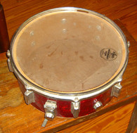 1960's RED MOTHER OF PEARL SNARE DRUM