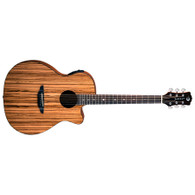 NEW LUNA Gypsy Exotic Zebrawood A/E - Gloss Natural