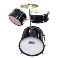 TKO 77 TKO77B 3-Piece Junior Drum Set - Black