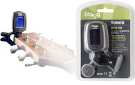 NEW STAGG CTU-C5 BK CHROMATIC CLIP-ON TUNER