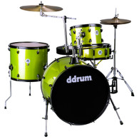 NEW DDRUM D2 ROCK 4-PIECE DRUM KIT - LIME SPARKLE