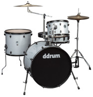 NEW DDRUM D2 ROCK 4-PIECE DRUM KIT - SILVER SPARKLE W/ BLACK HARDWARE