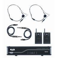 NEW CAD AUDIO GXLUBB UHF Wireless Dual Bodypack Microphone System