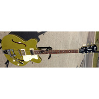 NEW HOFNER CONTEMPORARY VERYTHIN GUITAR - BIGSBY TREMOLO - GLOSS OLIVE GREEN