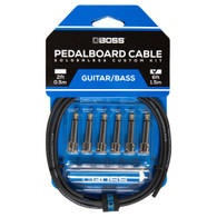 NEW BOSS BCK-6 SOLDERLESS PEDALBOARD CABLE KIT