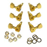 NEW SPERZEL TRIM-LOK 3+3 GOLD PLATED MACHINE HEADS