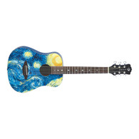 NEW LUNA SAFARI STARRY NIGHT TRAVEL GUITAR W/GIGBAG