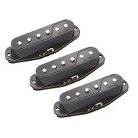NEW FISHMAN Fluence Single Width Pickup Set for Strat® - BLACK - Three Pickups