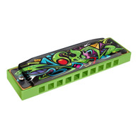 NEW HOHNER GREEN DRAGON TAGGED HARMONICA - KEY OF C