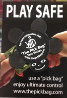 NEW THE PICK BAG TURTLE JAZZ SERIES - NON-SLIP GUITAR PICK COVER - 4-PACK