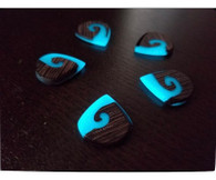 Woodland Cast Runic Picks - Mixed Woods and Blue