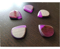 Woodland Cast Runic Picks - Mixed woods and Purple