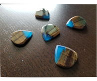 Woodland Cast Runic Picks - Mixed Woods and Blue2