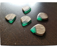Woodland Cast Runic Picks - Mixed Woods and Green2