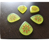 Woodland Cast Runic Picks - Yellow Sun