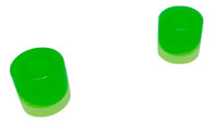 Woodland Cast Halo Knobs - Glow In Dark-Green/Silver