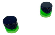 Woodland Cast Halo Knobs -Black/Green