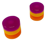 Woodland Cast Halo Knobs -Purple/Yellow/Orange