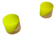 Woodland Cast Halo Knobs -Yellow/Wood