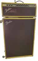 BLONDE FENDER '65 DELUXE REVERB REISSUE HEAD WITH CUSTOM CAB