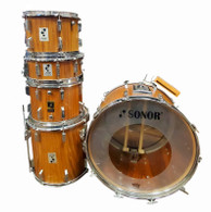VINTAGE RARE 80s SONOR PHONIC ROSEWOOD 5 PC