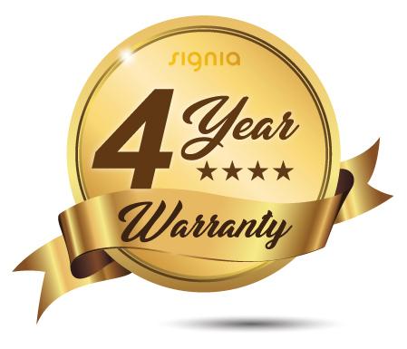 4-year warranty Signia hearing aids