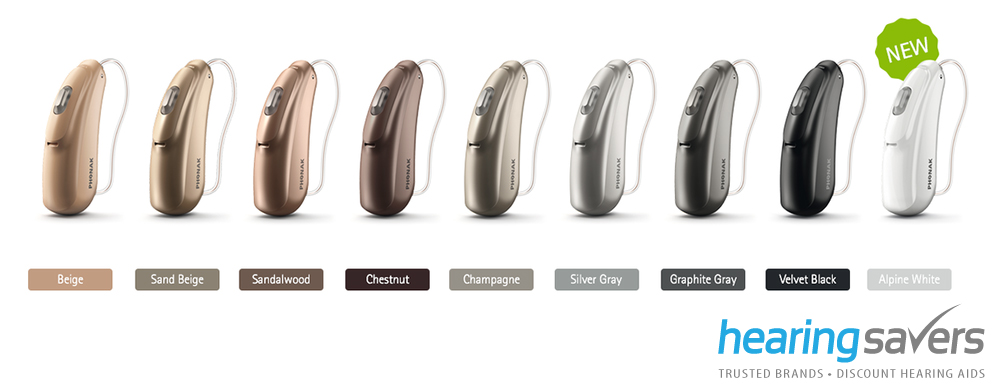 Phonak Belong Rechargeable colour options