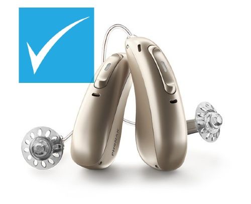 Phonak Paradise hearing aids discounted at HEARING SAVERS