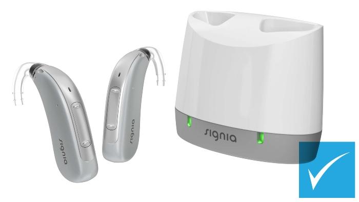 Signia Motion X hearing aids discounted at HEARING SAVERS
