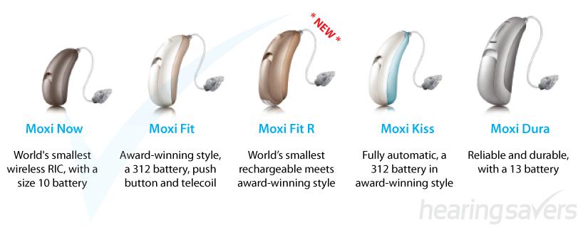 Unitron Moxi Tempus hearing aids