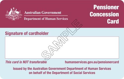 Pension Concession Card