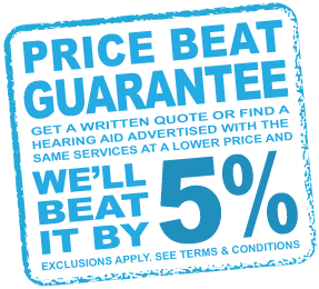 Lowest Price Guarantee at HEARING SAVERS