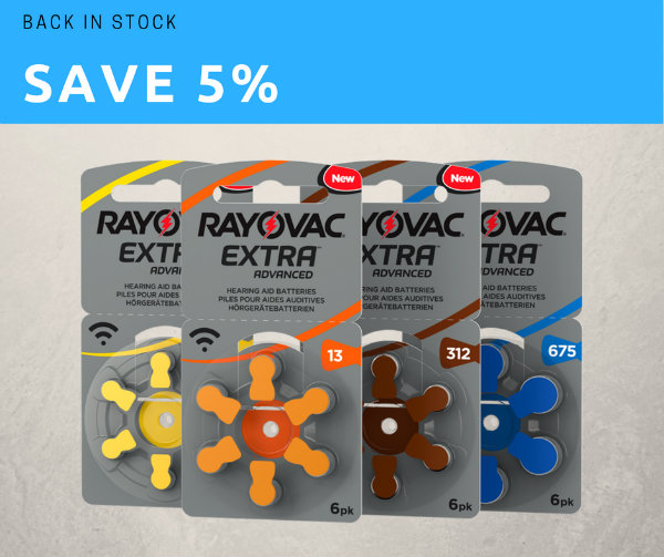 Save on Rayovac hearing aid batteries