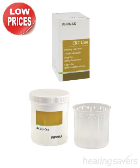 Phonak C&C Drying Capsules + Drying Beaker