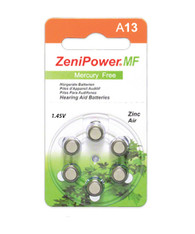 ZeniPower hearing aid batteries size 13