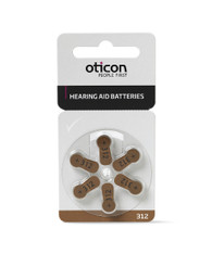Oticon Hearing Aid Batteries size 312