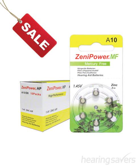 ZeniPower hearing aid batteries size 10