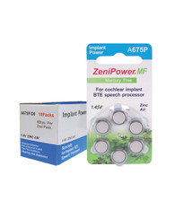 ZeniPower hearing aid batteries size 675P Cochlear