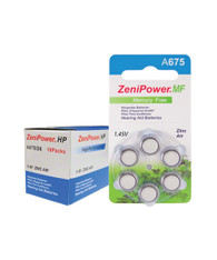 ZeniPower hearing aid batteries size 675
