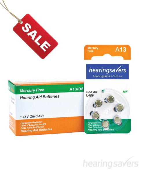 Hearing aid batteries 13 bulk