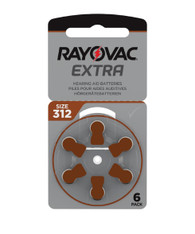 Rayovac Extra Hearing Aid Batteries size 312