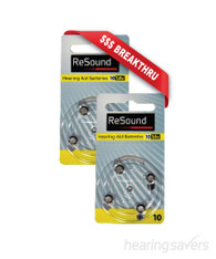 ReSound Hearing Aid Batteries size 10