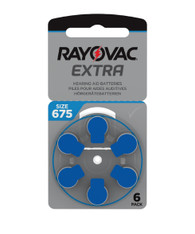 Rayovac Extra Hearing Aid Batteries size 675