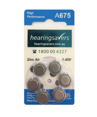 Hearing aid batteries 675
