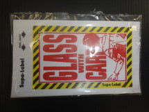 Glass With Care Stickers Pk 10