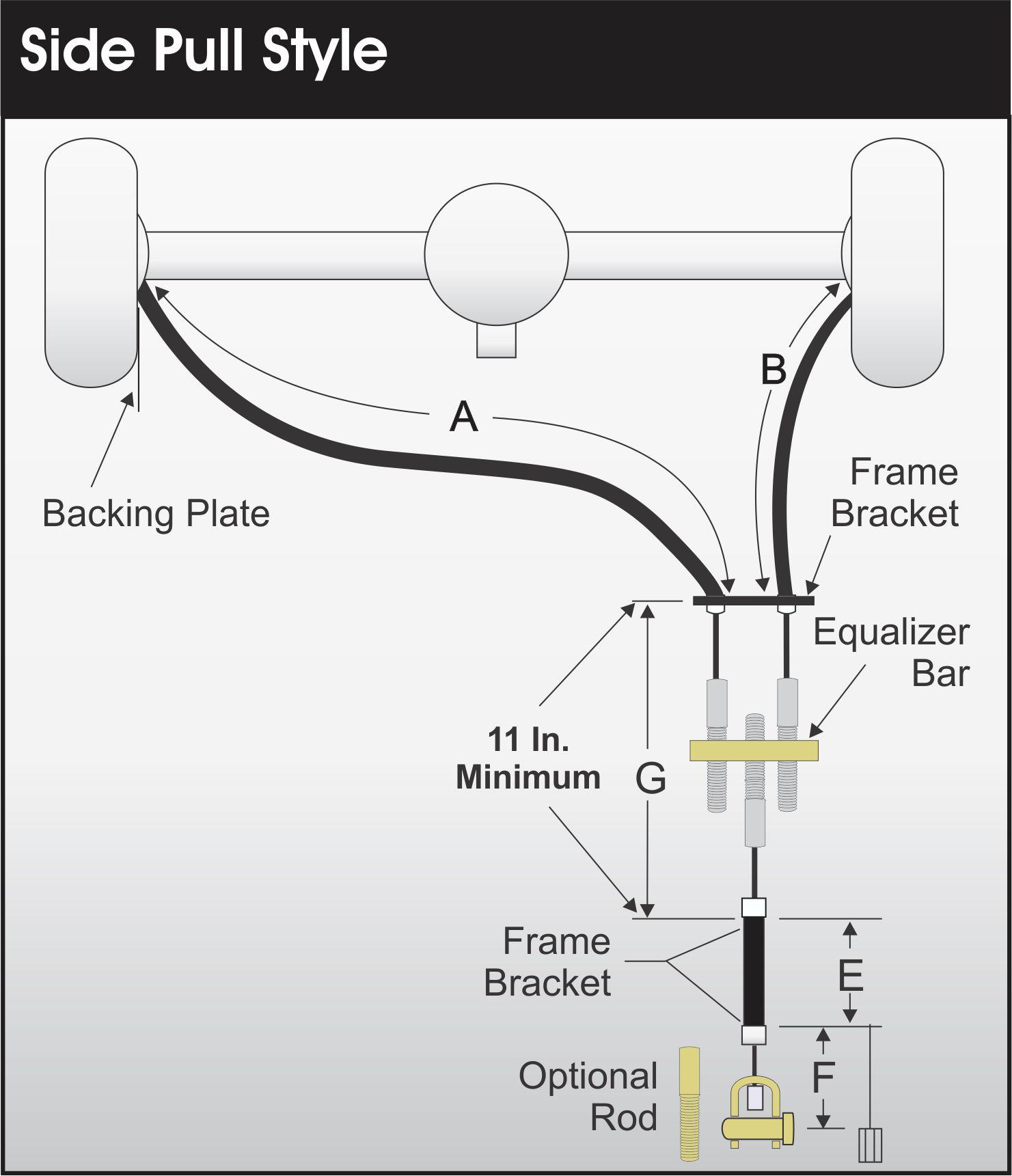 parking brake cables oem replacement cables street rod parking rh  controlcables com