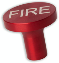 1 1/2 Red Anodized Aluminum Knob - Fire