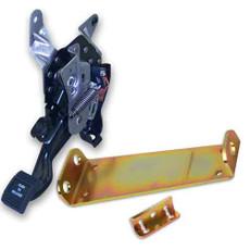 B2000 push on push off parking brake foot pedal with B-ez200 Easy bracket