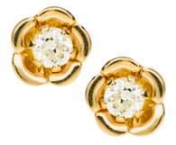 GE243 CZ Flower Earrings