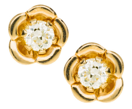 5dc1d724a GE243 CZ Flower Earrings - Hill's In-House Jewelers